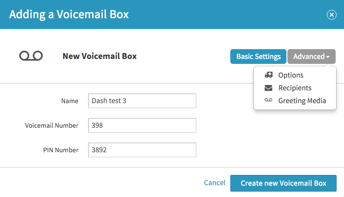 Voicemail virtualpbx please note the voicemail box must have a greeting associated with it before you can add recipients m4hsunfo