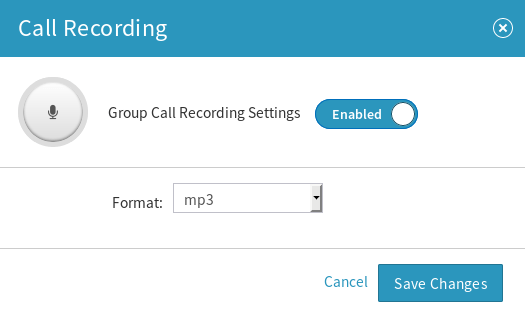 Ring Group Call Recording Settings
